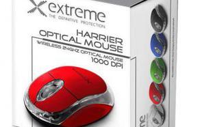 Esperanza MYSZ BEZPREWODOWA XM105R,3D,2.4GHz,CZERWONA
