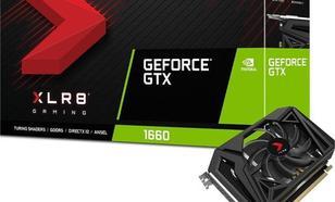 PNY Technologies GeForce GTX 1660 XLR8, 6GB GDDR5 (VCG16606SFPPB-O)