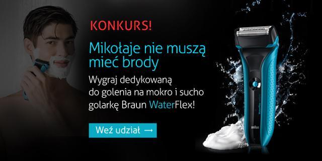 [KONKURS] Wygraj profesjonalne golarki Braun WaterFlex!