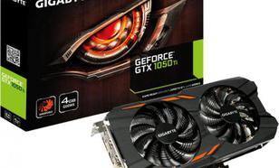 Gigabyte GeForce GTX 1050 Ti WindForce 4GB GDDR5 (128 bit), DVI-D, 3xHDMI, DisplayPort, BOX (GV-N105TWF2-4GD)