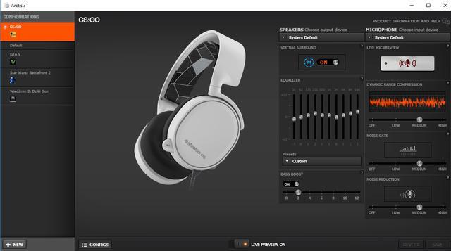 SteelSeries Arctis 3 - oprogramowanie