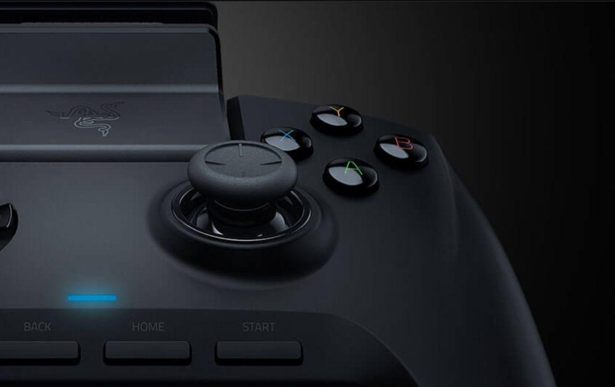 Razer Raiju Mobile przyciski z bliska