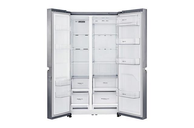 wnętrze lodówki LG GSB760PZXV