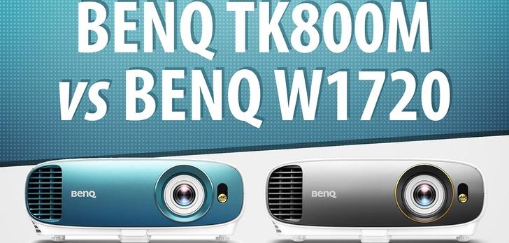 BenQ TK800M i BenQ W1720 - Porównanie i Test projektorów 4K