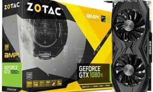 Zotac GeForce GTX 1080 Ti AMP Edition 11GB GDDR5X (352 bit), DVI-D, HDMI, 3xDisplayPort, BOX (ZT-P10810D-10P)