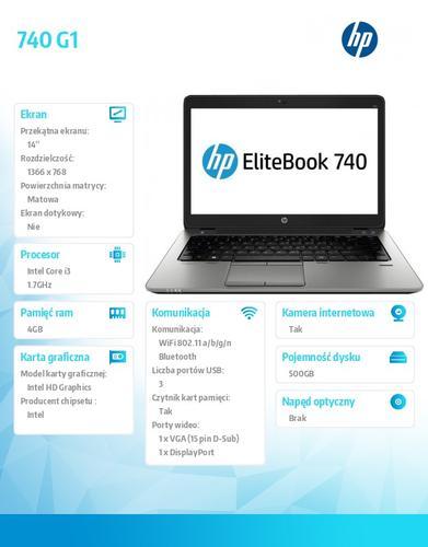 HP 740 G1 i3-4030U W78P 500/4G/14 J8Q81EA