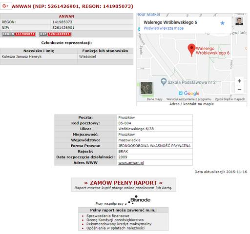 anwan.pl - opinie wpis w KRS