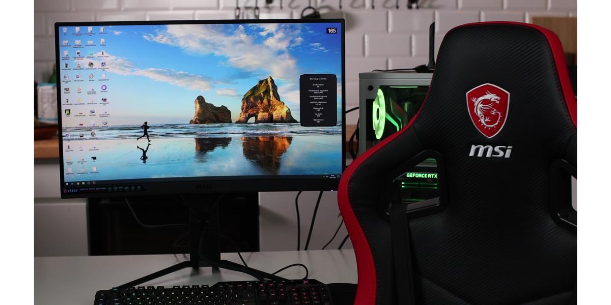 MSI Optix MAG272CQR - monitor dla graczy 1440p 165 h