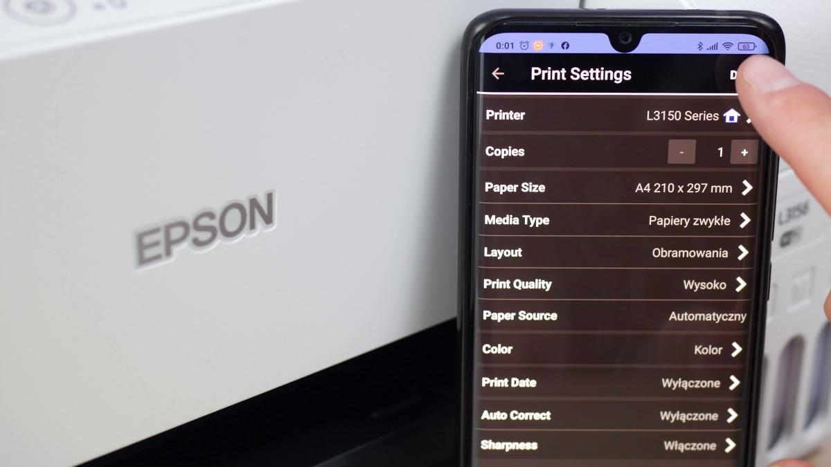 Aplikacja Epson L3156