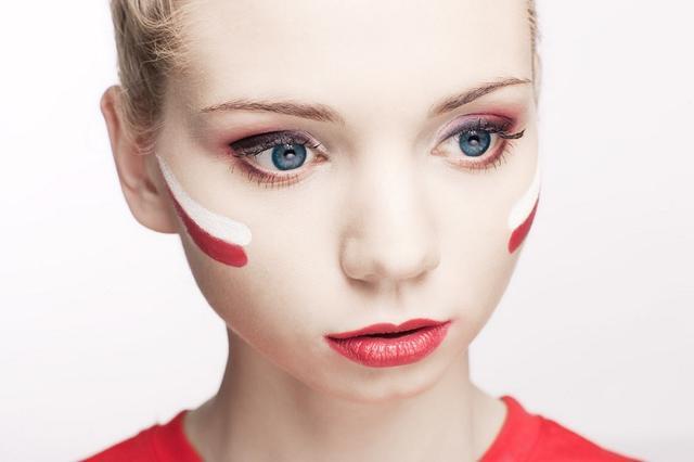 Dziewczyna kibica na Euro 2012