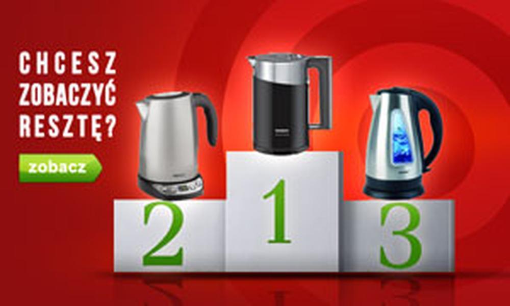 Czołowe Czajniki Elektryczne - Ranking Maj 2015