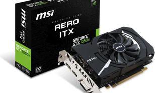 MSI GTX 1050 Ti Aero ITX OCV1 4GB GDDR5 (128 bit), HDMI, DP, DVI-D, BOX (GTX 1050 Ti AERO ITX 4G OCV1)