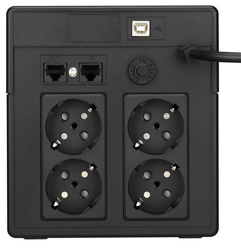 Lestar UPS V-1000SS AVR LCD 4xSCH USB RJ 45