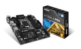 MSI H170M-A PRO s1151 H170 2DDR4 USB3.1/VGA uATX