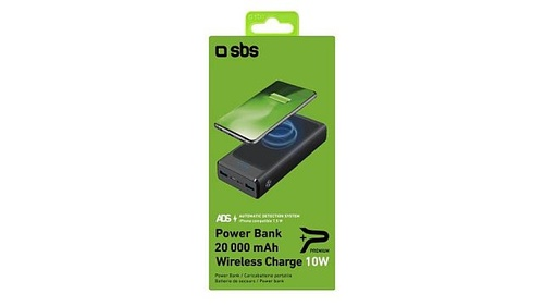 SBS Wireless Extra-Slim TEBB20000WIRCK 20000 mAh 10W