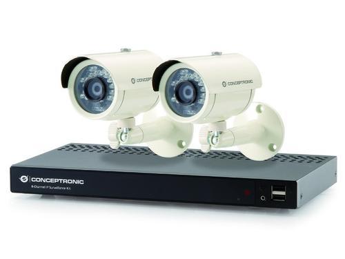 Conceptronic Zestaw CCTV (2 Kamery + Rejestrator 8-kanałowy)(4 Porty POE)