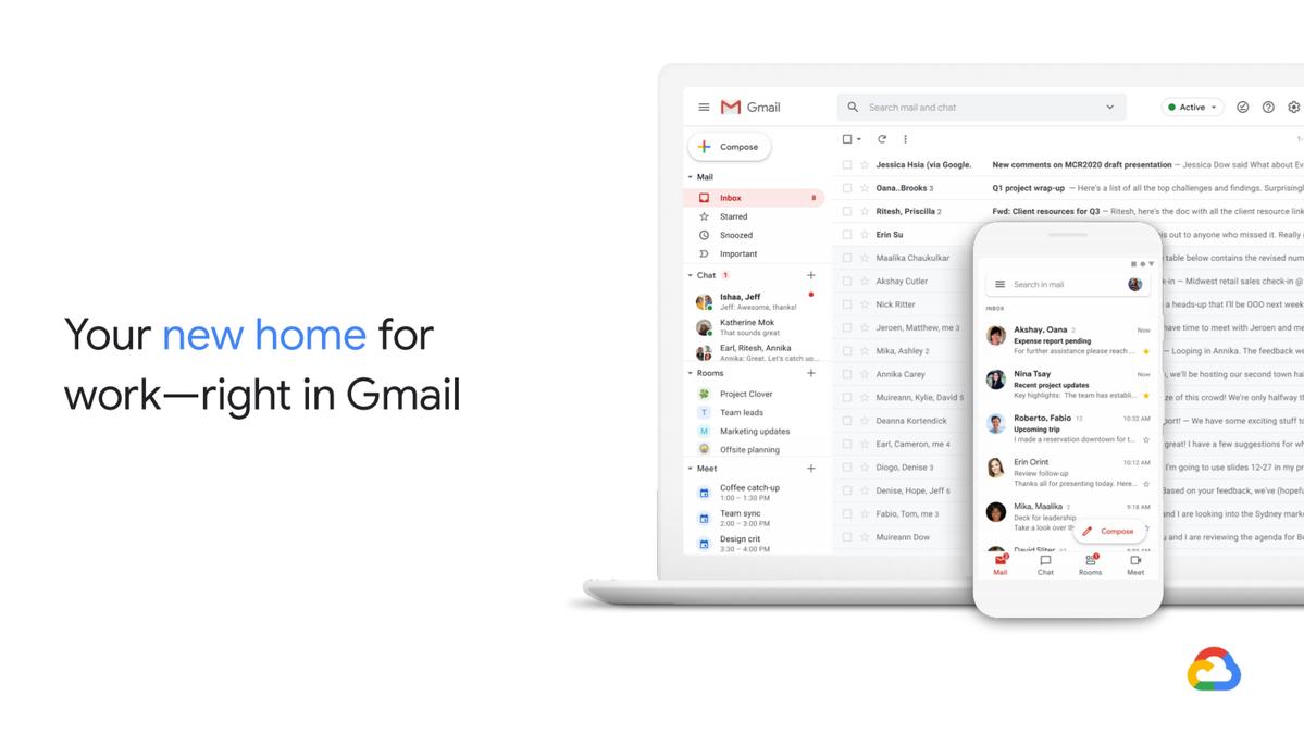 Nowy wygląd interfejsu przeglądarkowego Gmaila
