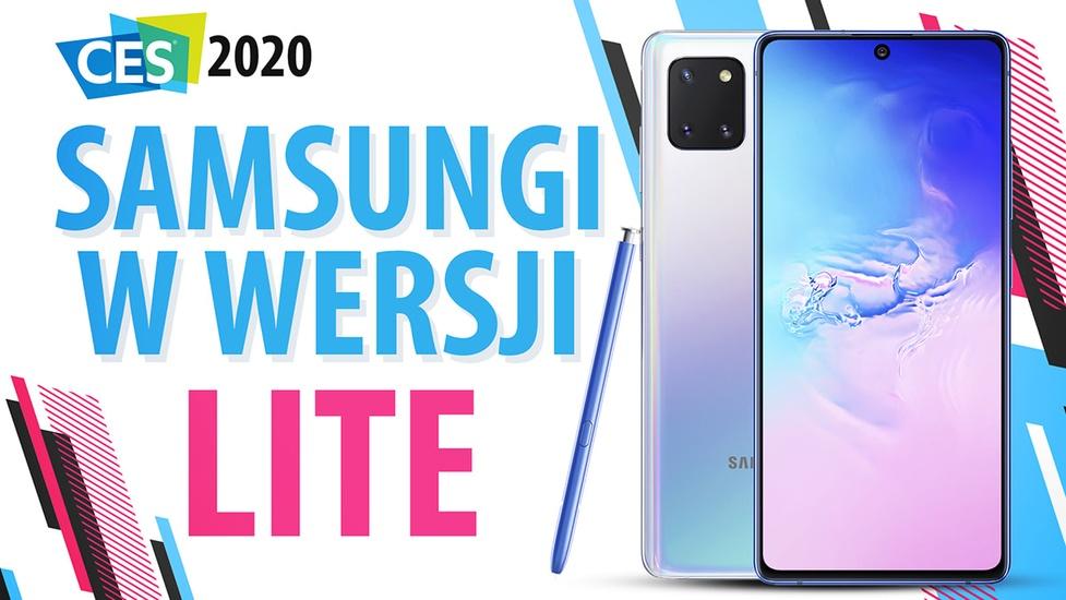 Premiera tańszych flagowców Samsunga - S10 Lite i Note 10 Lite
