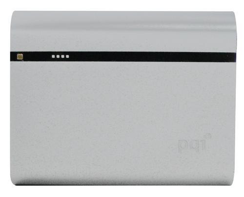 PQI POWERBANK 12000VmAh DUAL-USB 2,4/1,5A,SILVER, ALUMINIOWY