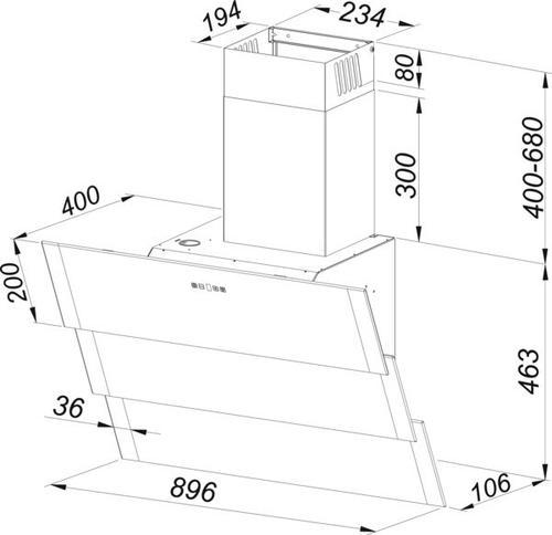 Gorenje Okap kominowy DVG900ZW - Typ II