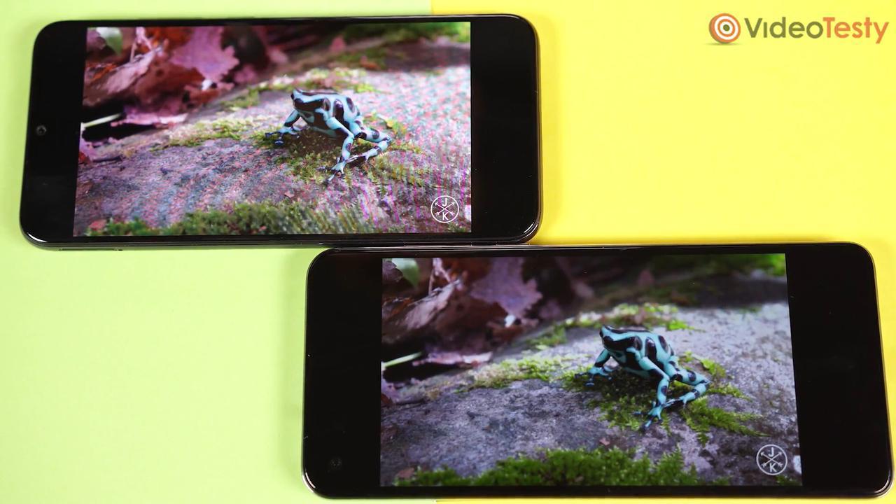 Brak polaryzacji pionowej przekłada się na słabe kąty widzenia w Xiaomi Mi A3