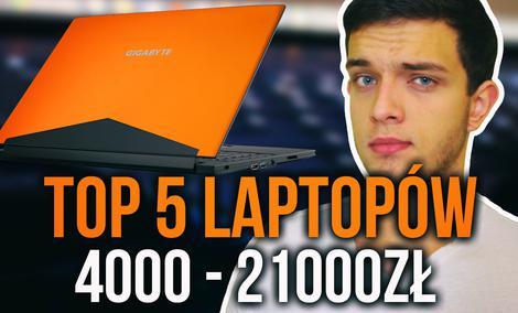 TOP 5 Gamingowych Laptopów - Budżet 4000-21 000 zł