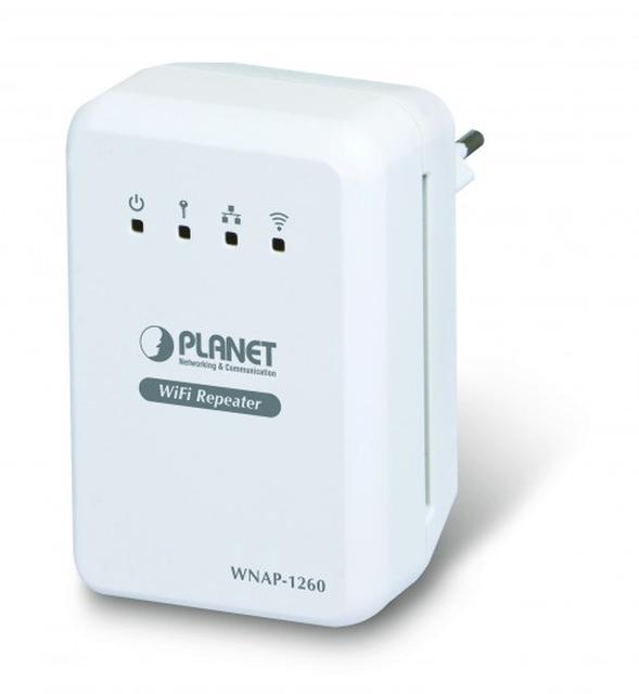 Kompaktowy uniwersalny Repeater 2.4GHz 802.11n marki Planet Technology