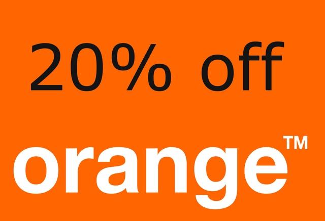 Promocja tylko dla naszych użytkowników - Orange 20% off