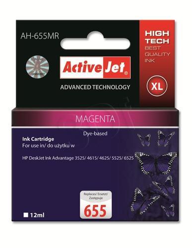 ActiveJet AH-655MR tusz magenta do drukarki HP (zamiennik HP 655 CZ111AE) Premium