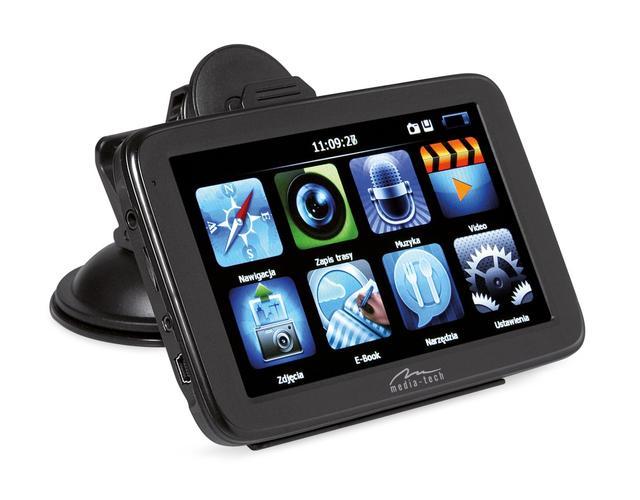 Media-Tech - GPS z wbudowaną kamerą i możliwością podłączenia kamery cofania