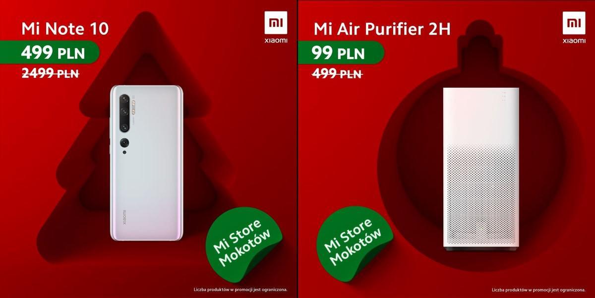 Promocje na Mi Note 10 i Air Purifier 2h Xiaomi
