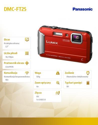 Panasonic DMC-FT25 red