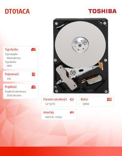 Toshiba DT01ACA100 1TB 3.5'' SATA3 32MB 7200rpm