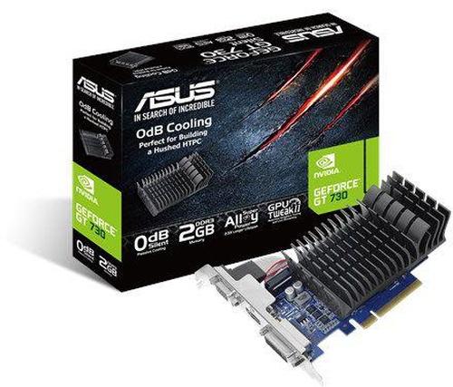 Asus GT 730 2GB GDDR5 (64 bit), DVI-I, HDMI, D-Sub, BOX (GT730-SL-2G-BRK-V2 LP)