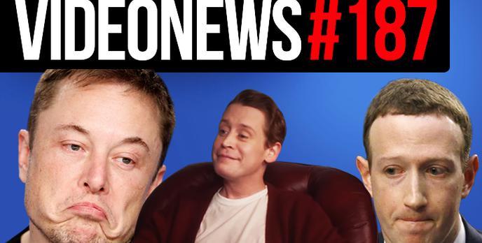 Elon Musk pokazuje tunel, Kevin znów sam w domu, Wtyki w Facebooku - VideoNews #187