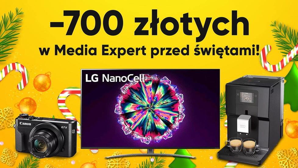 Zaoszczędź 700 złotych na świątecznych zakupach w Media Expert!