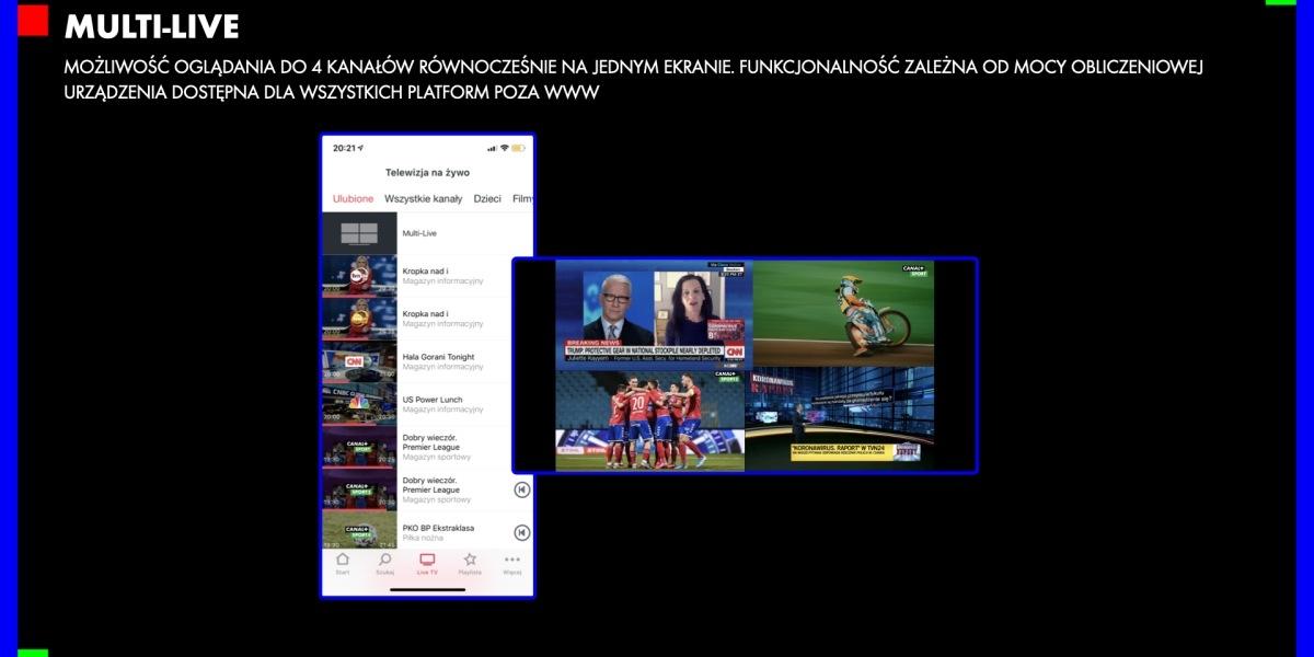Multi-Live pozwoli oglądać nawet 4 transmisje jednocześnie