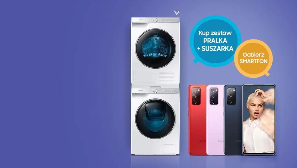 Kupując pralkę oraz suszarkę Samsung, otrzymasz darmowy smartfon