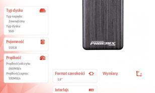 Patriot Phoenix 512GB USB3.0 SSD 260 MB/s