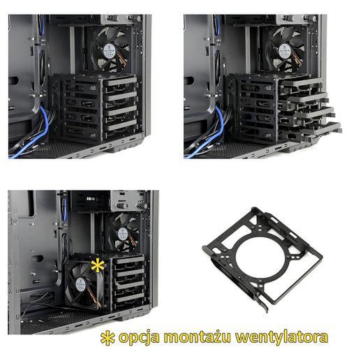 SilentiumPC Gladius M40 Pure Black ATX/USB3.0/SSD ready/3x120mm