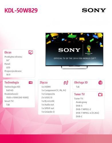 Sony 50'' LED KDL-50W829