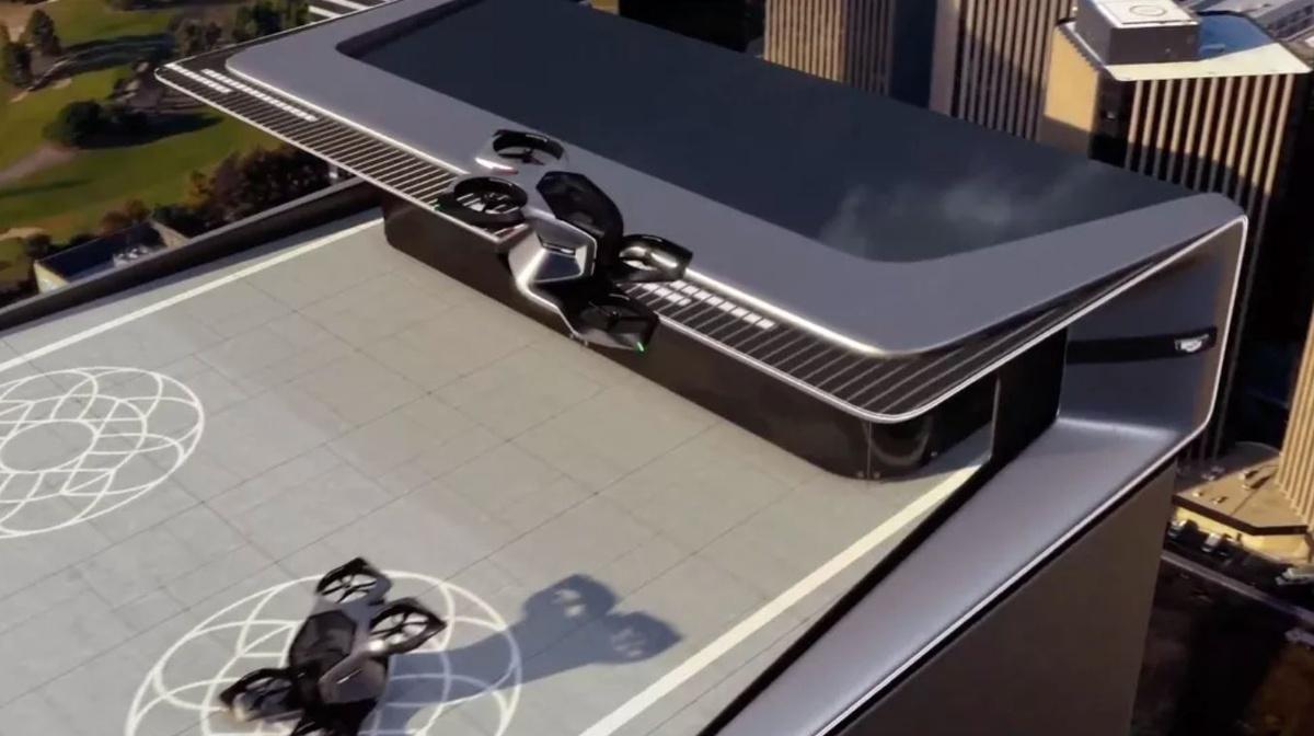 Drony Cadillaca mogą startować np. z dachów budynków