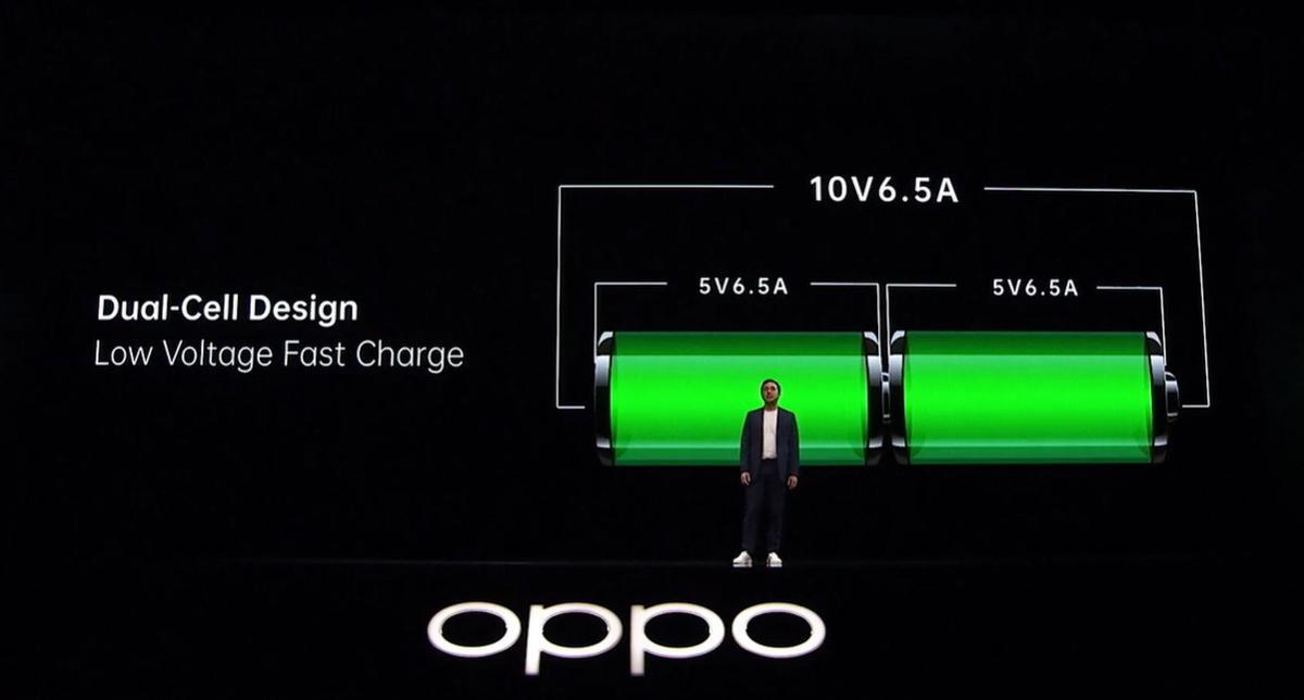 Bateria w Oppo Find X2 korzysta z dwóch komór, by dostarczyć energię szybciej