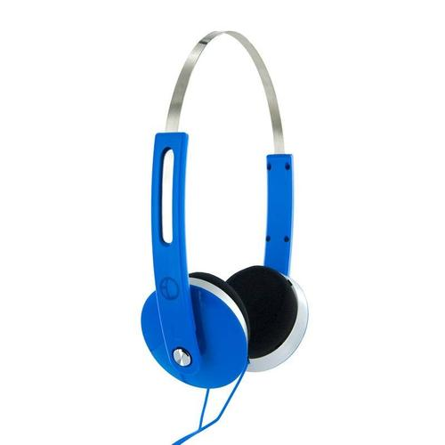 4World Słuchawki stereo nauszne niebieskie,Super Bass,COLOR 08250