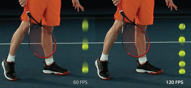 Tak prezentuje się różnica w wyświetlaniu obrazu między 60 a 120 klatkami na sekundę.