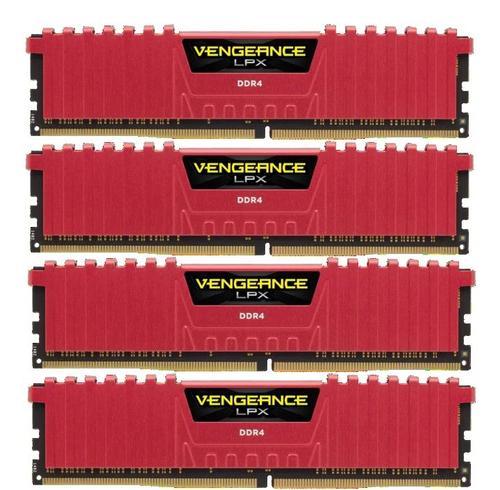 Corsair DDR4 Vengeance LPX 16GB /2666 (4*4GB) RED CL16-18-18-35