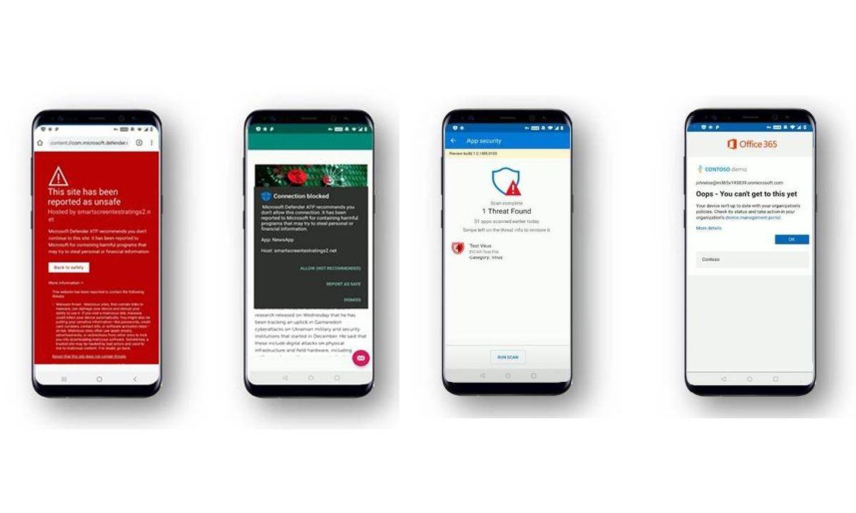 Grafika prezentująca aplikację Defender ATP na Androidzie
