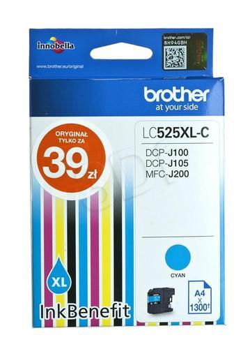 BROTHER Tusz Niebieski LC525XLC=LC-525XLC, 1300 str.