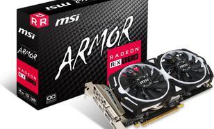 MSI Radeon RX 570 ARMOR OC 4GB GDDR5 (256 Bit), DVI-D, HDMI, 3xDisplayPort, BOX (V341-077R)