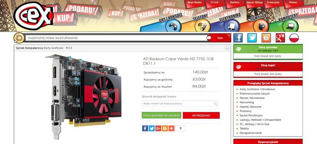 Komputer za 500 zł - Radeon HD 7750